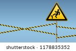 caution  possible to fall from... | Shutterstock .eps vector #1178835352