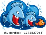 big fish eating small fish  a... | Shutterstock .eps vector #1178837065