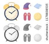 night cap  pillow  slippers ... | Shutterstock . vector #1178838535
