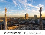 view of statues on the spires... | Shutterstock . vector #1178861338