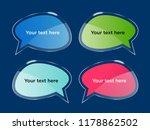 vector  shining bubbles set ... | Shutterstock .eps vector #1178862502