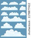 big set of vector cartoon...   Shutterstock .eps vector #1178877412