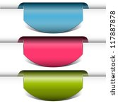 set of vector arrows colored... | Shutterstock .eps vector #117887878