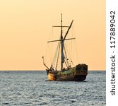 Old Historical Sail Ship At Th...