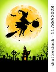 halloween funny background with ... | Shutterstock . vector #1178892028