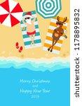 christmas holiday. santa claus...   Shutterstock .eps vector #1178895832