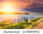 beautiful sunset over  solar... | Shutterstock . vector #1178895952