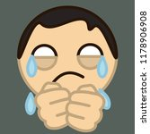 emoji with poor upset guy that... | Shutterstock .eps vector #1178906908
