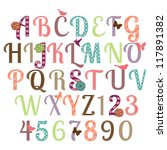 girly alphabet vector set  ... | Shutterstock .eps vector #117891382