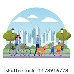 families in park | Shutterstock .eps vector #1178916778