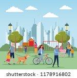 families in park | Shutterstock .eps vector #1178916802