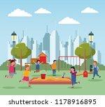 kids at park | Shutterstock .eps vector #1178916895