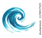 Sea Wave. Abstract Watercolor...