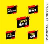 sale label compilation vector... | Shutterstock .eps vector #1178919478