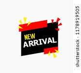 new arrival vector template... | Shutterstock .eps vector #1178919505
