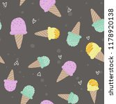 illustration of cute ice cream... | Shutterstock . vector #1178920138