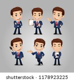 men with different poses | Shutterstock .eps vector #1178923225