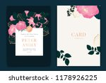navy and dark green wedding... | Shutterstock .eps vector #1178926225