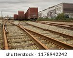 urban railroad tracks and... | Shutterstock . vector #1178942242
