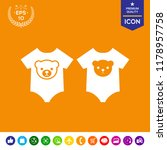 baby rompers icon | Shutterstock .eps vector #1178957758