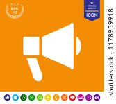 speaker  bullhorn icon | Shutterstock .eps vector #1178959918