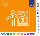 presentation sign icon. man...   Shutterstock .eps vector #1178961202