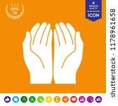 open hands icon | Shutterstock .eps vector #1178961658
