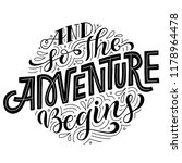 and so the adventure begins.... | Shutterstock .eps vector #1178964478