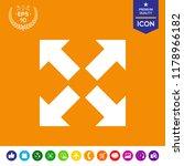 extend  resize icon. cross... | Shutterstock .eps vector #1178966182
