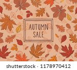 autumn sale. promotional poster ... | Shutterstock .eps vector #1178970412