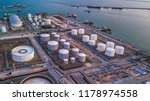 aerial view oil terminal is... | Shutterstock . vector #1178974558