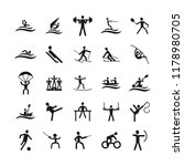 pictograms of athletes icon set ... | Shutterstock .eps vector #1178980705