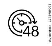 48 hours. vector icon. white... | Shutterstock .eps vector #1178989075