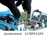 hand of computer engineering... | Shutterstock . vector #1178991355