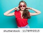 fashion model in sunglasses  ... | Shutterstock . vector #1178993515