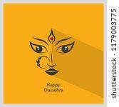 happy dussehra godess maa durga | Shutterstock .eps vector #1179003775