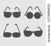 glasses sun set vector icon....   Shutterstock .eps vector #1179006955