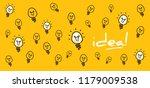 lamp bulb idea business idea...   Shutterstock .eps vector #1179009538