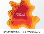 abstract paper cut background.... | Shutterstock .eps vector #1179010672