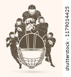 american football player action ...   Shutterstock .eps vector #1179014425