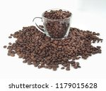 coffee bean in cup isolated on... | Shutterstock . vector #1179015628