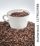coffee bean in cup on white... | Shutterstock . vector #1179015988