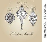 doodle textured christmas... | Shutterstock .eps vector #117902836