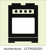 stove vector icon | Shutterstock .eps vector #1179030205