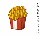 vector potatoes french fries in ... | Shutterstock .eps vector #1179031495