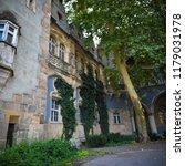 vajdahunyad castle courtyard | Shutterstock . vector #1179031978