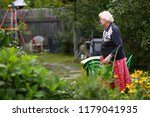 healthy pensioner woman in... | Shutterstock . vector #1179041935