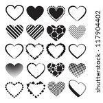 Hearts   Set Of Vector...