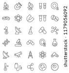 thin line vector icon set  ... | Shutterstock .eps vector #1179056092