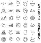 thin line vector icon set  ... | Shutterstock .eps vector #1179056125